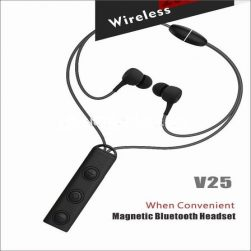 wireless v25 sports earphones with mic