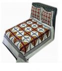 double size cotton bed sheet with 2 pillow covers – multicolor