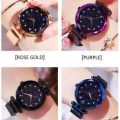 combo pack of 4 magnetic watches – black, blue, purple, gold