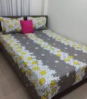 king size cotton bed sheet with 2 pillow covers – multicolor